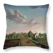 Ezekiel Hersey Derby Farm Throw Pillow