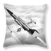F-104a Starfighter Throw Pillow