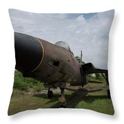 F - 105 Thunderchief Throw Pillow