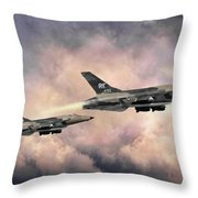 F-105 Thunderchief Throw Pillow