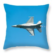 F-16 Full Speed Throw Pillow