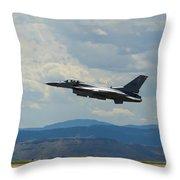 F-16 Tower Throw Pillow
