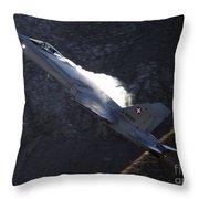 F 18 Throw Pillow