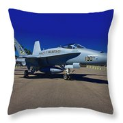 F-18 Hornet Throw Pillow