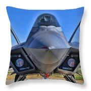 F-22 Raptor 1 Throw Pillow