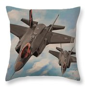 F-35's On Assignment  Throw Pillow