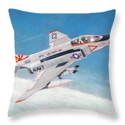 F-4b Phantom II Of Vf-111 Throw Pillow