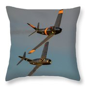 F-86 And Mig-15 Throw Pillow