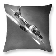 F-86 Jet Fighter Plane Throw Pillow