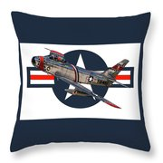 F-86 Sabre Throw Pillow