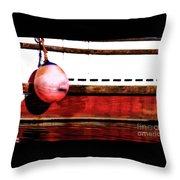F Dock Buoy Throw Pillow