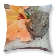 F Throw Pillow
