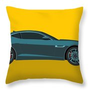 F Type Throw Pillow