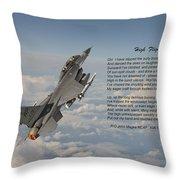 F16 - High Flight Throw Pillow