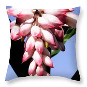 F16 Shell Ginger Flowers Throw Pillow