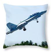 F18 - Take Off Throw Pillow
