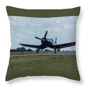 F4u-4 Corsair Airplane 30 Throw Pillow