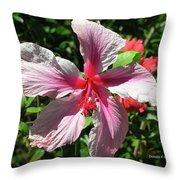 F5 Hibiscus Flower Hawaii Throw Pillow