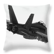 Fa-18 In Black And White Throw Pillow