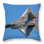 Fa 22 Raptor From Air Show Throw Pillow
