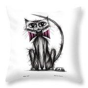 Fab Cat Throw Pillow