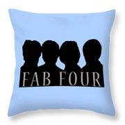 Fab Four Throw Pillow