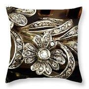 Faberge Diamond Hair Comb Detail Throw Pillow