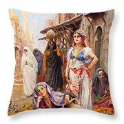 Fabio Fabbi Orange Seller Throw Pillow