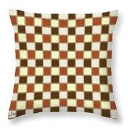 Fabric Design Mushroom Checkerboard Abstract #2 Throw Pillow
