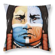 Fabric Of Harmony Throw Pillow