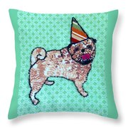 Fabric Pug Throw Pillow
