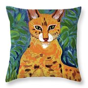 fabulous cat portrait in the style of Van Gogh's Throw Pillow