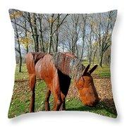 Fabulous Fillie Throw Pillow