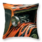 Fabulous Flames  Throw Pillow