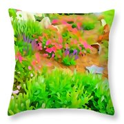 Fabulous Florals 323 Throw Pillow
