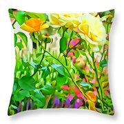 Fabulous Florals 333 Throw Pillow