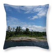 Fabulous Northern Summer - Georgian Bay Island Landscape Throw Pillow