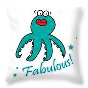 Fabulous Octopus Throw Pillow