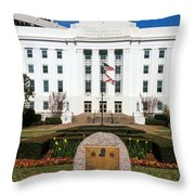 Facade Of An Office Building, Lurleen Throw Pillow