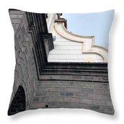 Facade Of La Matriz Church Throw Pillow