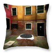 Facade Of Venice V1  Throw Pillow