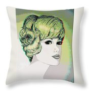 Face - Use Red-cyan 3d Glasses Throw Pillow