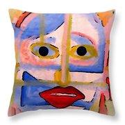 Face 1 Throw Pillow