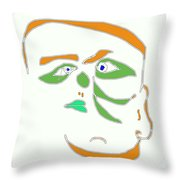 Face 1 On White Throw Pillow
