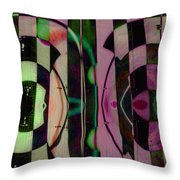 Face 2 Face Throw Pillow