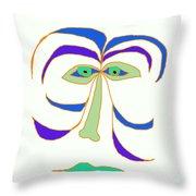 Face 2 On White Throw Pillow