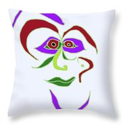 Face 6 On Light Blue Throw Pillow
