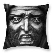 Face #9874 Throw Pillow