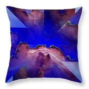 Face Cloud Illusion Throw Pillow
