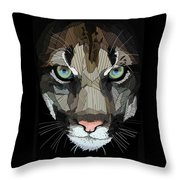 Face De Puma Throw Pillow